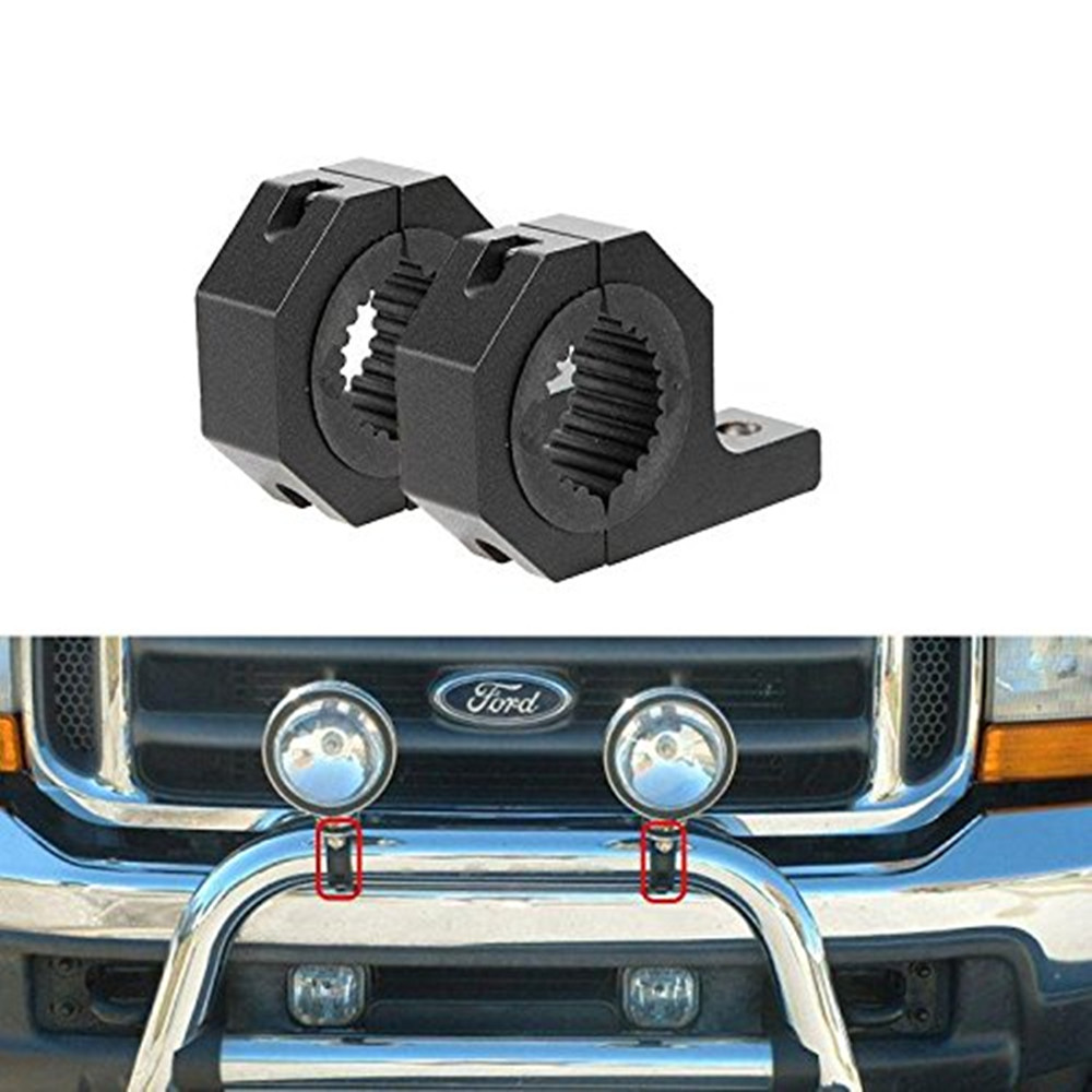 10 pairs 1.25 (30mm) LED HID Light Bar Tube Clamps Roll Cage Mounting Brackets Holder For Car Truck Jeep UTV ATV 4X4 Off-road