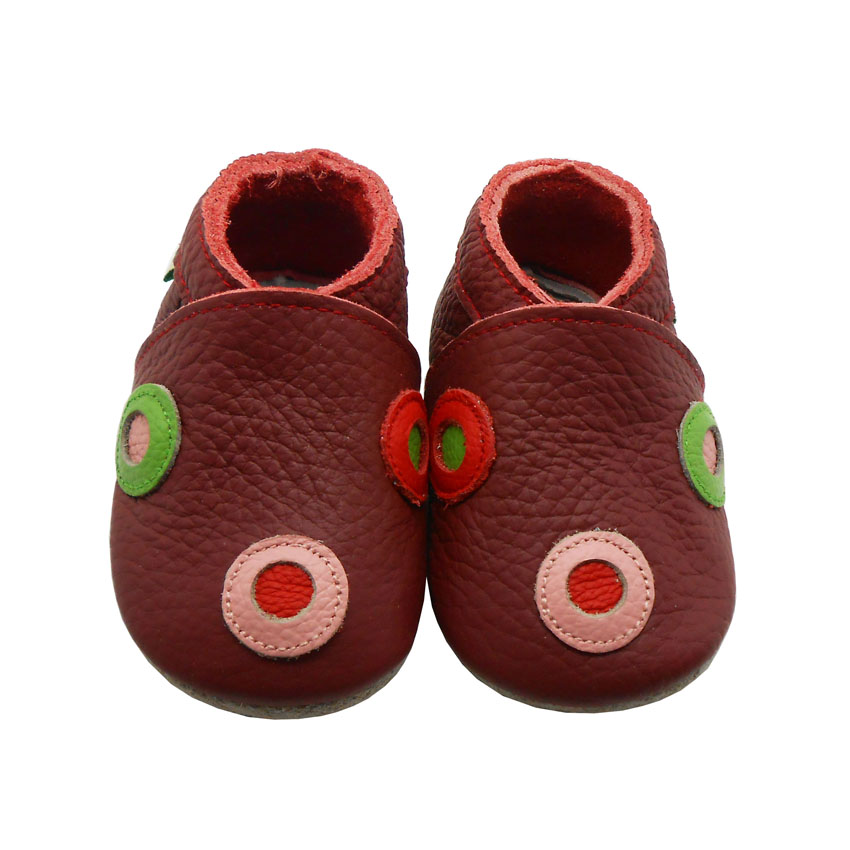 Sayoyo Brand Cute Dot Baby Girl Shoes Soft Sole Pattern Leather Infant Toddler Newborn Moccasins First Walker
