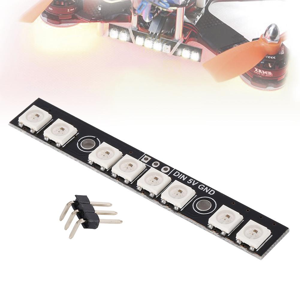1pcs Matek Durable RGB LED Board Composite WS2812B w/MCU Taillight Dual Modes for FPV Light Weight Mini Size RC Multicopter 1pcs lightweight matek rgb led circle board 7 colors x8 16v for fpv rc multicopter