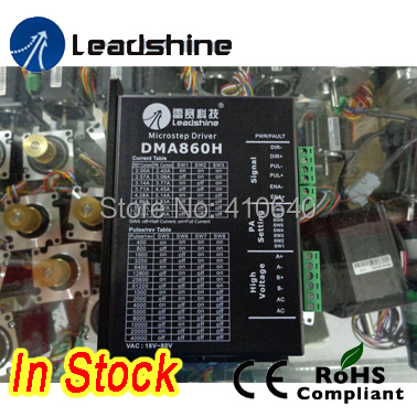 Free shipping In Stock! Leadshine DMA860H 2 Phase Stepper Drive with 18 to 80 VDC suitable for NEMA 34 to 42 цена