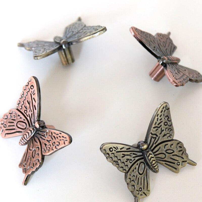 42mm Vintage Dresser Pulls Antique Butterfly Cabinet Knobs Handles