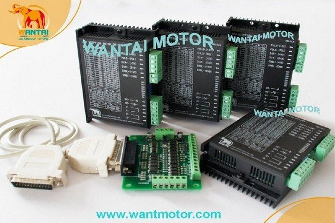 Cheap CNC! Wantai 4 PCS Stepper Motor Driver DQ860MA 80V 7.8A 256micro CNC Router Mill Cut Engraving Grind Foam Embroidery [usa for free] wantai 5pcs stepper motor driver dq860ma 80v 7 8a 256micro cnc router mill cut engraving grind foam embroidery