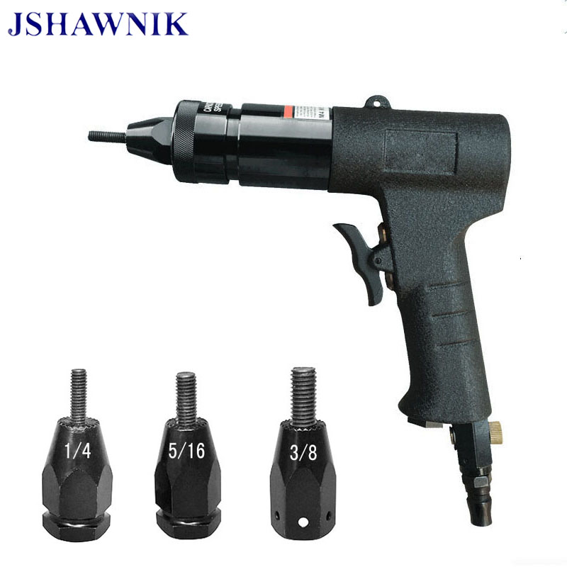 1/4,5/16,3/8 Pneumatic Riveters Pneumatic Pull Setter Air Rivets Nut Gun Tool Only For Iron Rivet Nuts