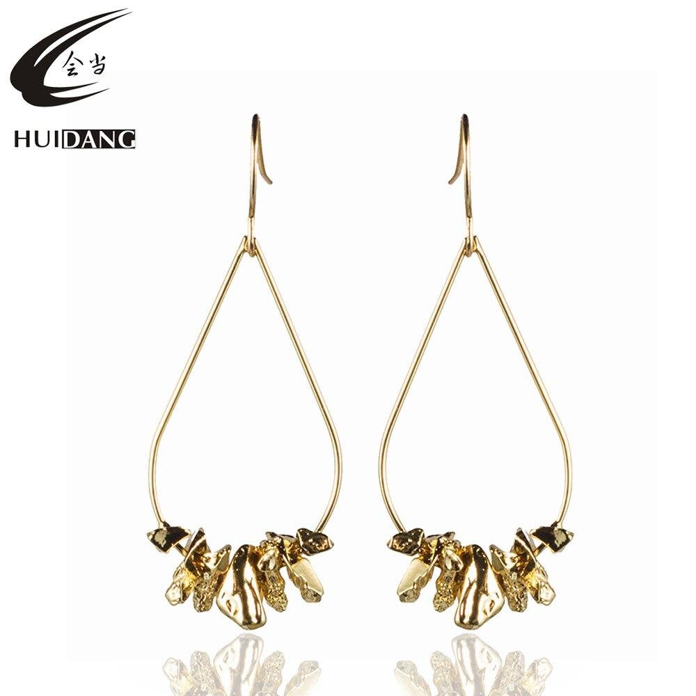 Brass Copper Wire Water Drop Shape Zinc Alloy Metal Finding Cluster Dangle Women Earrings