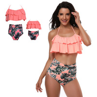 Family Match Swimwear Mother And Daughter Lady Kid Mum And Me Bikini Bahitng Swimsuit Brachwear