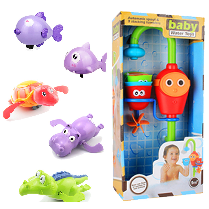 Bathing spouts clockwork robofish Play Water in the bathroom oyuncak for baby Boys Children kids pool swimming Bathtub bath toys