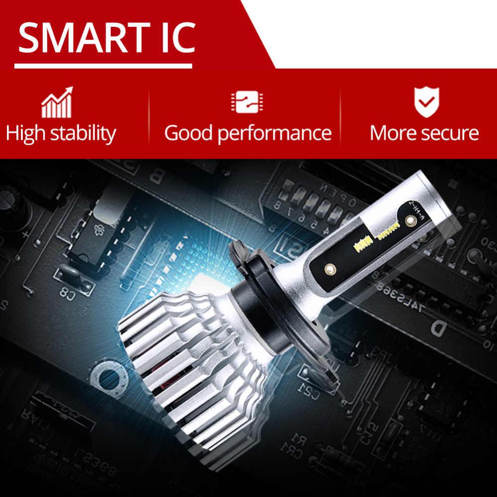 2 Pcs LED Car Headlamp 12V H7 H11/H8/H9 ZES Chip 16000Lm 6500K Super Turbo 60W 24V LED H4 9005/HB3 9006/HB4 Bombillas LED Coche