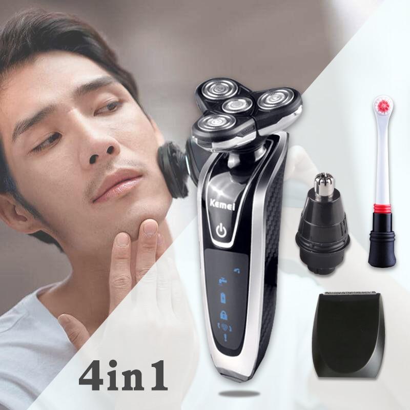Kemei Electric Shaver For Men  Multifunction Shaving Machine electric razor beard trimmer hair clipper sideburns knife trimmer 4