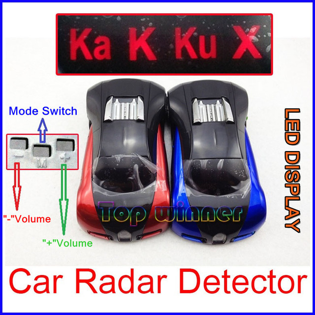 2 colors available !  - 100% New Arrival Car  radar detector with LED display Russian/English version+USB Cable&Free shipping!