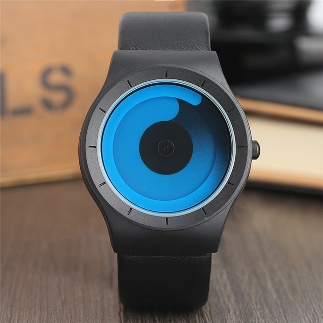 44c65c150 New Concept Watch Minimalist Style Cool Color Spiral Turntable Novel  Stylish Wristwatch Geek Fans Gift Male Female Clock relogio