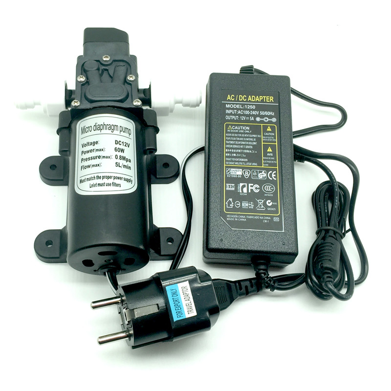 C091 DC 12V motor micro diaphragm fine mist spray pump mini water pump with power supply and adapterC091 DC 12V motor micro diaphragm fine mist spray pump mini water pump with power supply and adapter