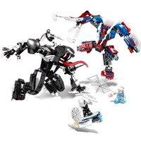 SY 1168 671PCS Super Heroes Avengers 2 Age Spider Man VS Venom Building Blocks bricks baby toys children gift