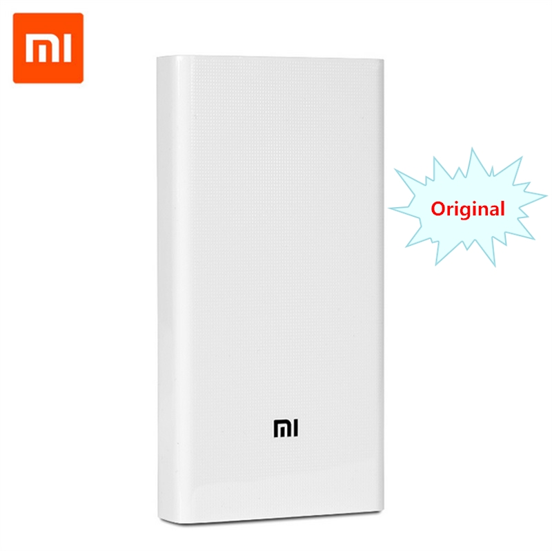 Original Xiaomi Mi Power Bank 20000mAh 2nd Gen Quick Charger QC2.0 Portable charger Double USB Output Power Bank 20000 for phone стоимость