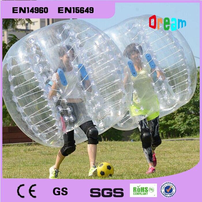 Livraison gratuite TPU Transparent 1.5 m gonflable balle pare-chocs humain heurtoir balle bulle football, balle de Hamster humain pour les Parties adultes
