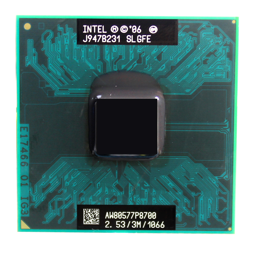 lntel Core P8700 Dual Core 2.5GHz 3M Cache 1066MHz Socket 478 laptop notebook CPU Processor Free Shipping