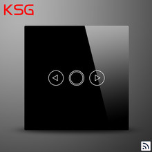 KSG,EU RF433MHz Wireless LED Dimmer Switch,110-240V Waterproof Crystal Glass Panel light Switch,1Gang Dimmable Switch,no Remote(Hong Kong,China)