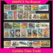 1000 PCS / lot Lot All Different Postage Stamps With Post Mark In Good Condition For  Collection timbri stempel