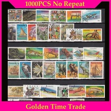 All-Different Postage Stamps Collection 1000pcs/Lot-Lot with Mark in for Timbri-Stempel