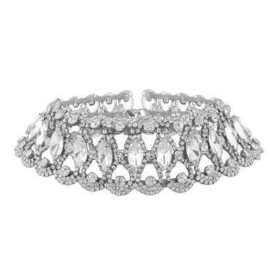 Золотистый и черный заполнены Блестящий Кристалл колье Цепочки и ожерелья для женщин, Короткая подвеска, цепочка, ожерелье, с бантом на ювелирные изделия, Чокеры N54
