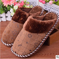 2016 winter cotton slippers New style indoor thermal Lovers home non slip winter cotton slippers Free postage 35-44 code