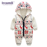 Winter New Thick Christmas Baby Boy Clothes Newborn Baby Warm Rompers Infant Outerwear Christmas Gifts Children