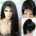 Silky Straight Brazilian Full Lace Human Hair Wigs With Baby Hair 8A Virgin Glueless Lace Front Human Hair Wigs For Black Women