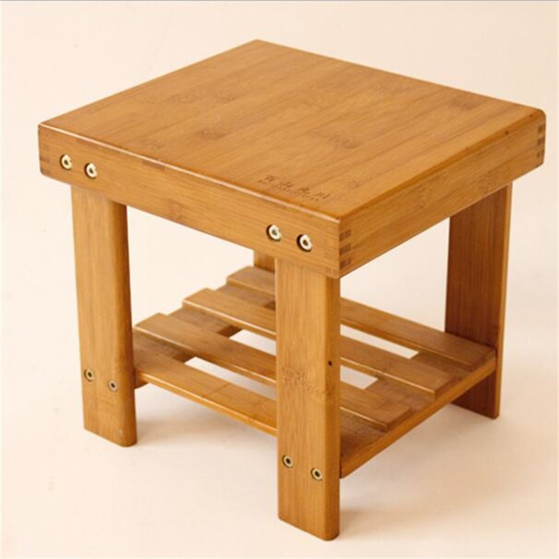 27*23*26cm Bamboo Small Stool Leisure Stool Children's Stools