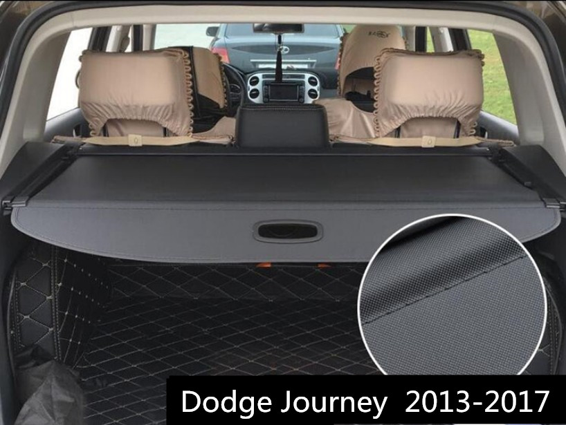 Car Rear Trunk Security Shield Cargo Cover For Dodge Journey 5 seat 7 seat 2013.2014.2015.2016.2017 High Qualit Auto Accessories car rear trunk security shield cargo cover for ford escare kuga 2016 2017 high qualit black beige auto accessories