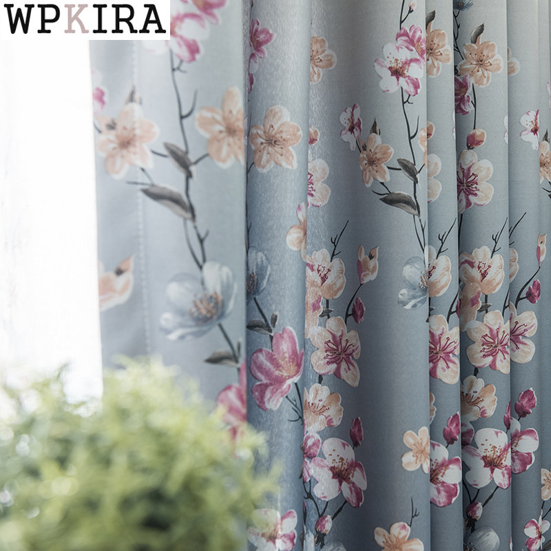 New Flower Curtains For Windows Drapes Modern Elegant Noble Printing Shade Curtain For Living Room Bedroom Curtains S281&30