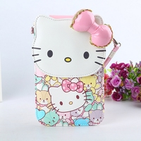 Free Shipping 2017 News Hello Kitty Coin Purses High Quality PU Cat Women Bag Waterproof And