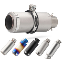 51mm/60mm motorcycle pipe Muffler with DB killer escape moto sc for R6 GSXR1000 R25 MT07 CBR1000 cb650f gsxr250