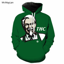 Funny THC Grandpa Smoking Print 3D Hoodies Men/Women Hipster Hiphop Pullover Hat Sweatshirts Tracksuits Jacket Boy Green Clothes