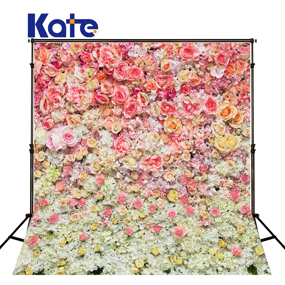 KATE 5x7ft Valentine'S Day Backdrop Photography Background Romantic Flower Wall Backdrops Pink and White Flower Wedding Backdrop 8x10ft valentine s day photography pink love heart shape adult portrait backdrop d 7324