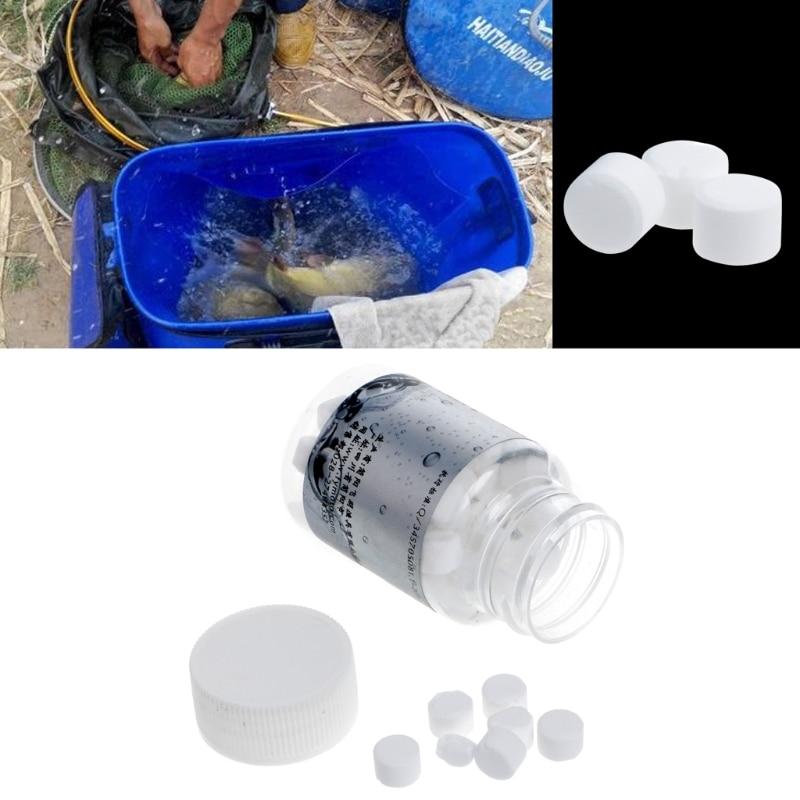1 Bottle Oxygen Releasing Fishing Bait Carp Additive Tablet Transport Tackle Supply oxygen Helpful fishing tackle