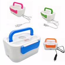 New high quality Electric Heating Lunch Box with Spoon Food Container Warmer Separated Easy to clean Office School Lunchbox Kids dmwd 12v 24v mini rice cooker car truck soup porridge cooking machine food steamer electric heating lunch box meal heater warmer