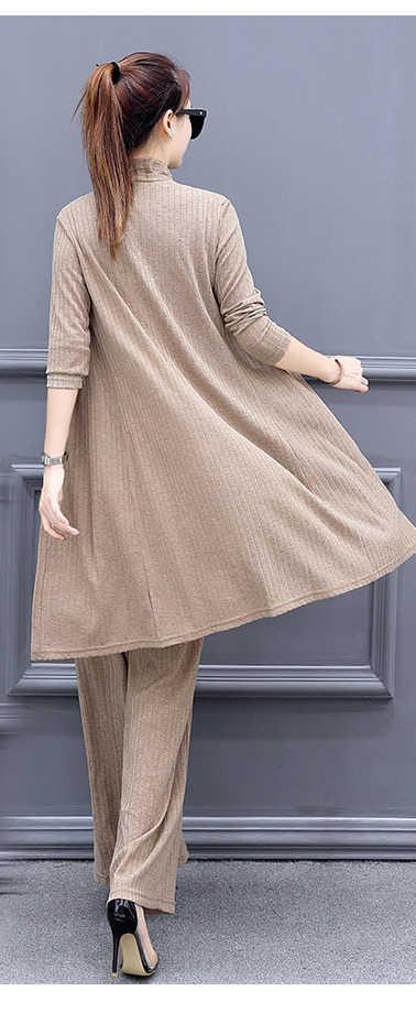 AYUNSUE סתיו האביב החדש 2018 אלגנטי משרד ליידי חליפות עסקי Plu גודל 5XL מזדמן חולצות נקבה 3 Piece סטים להאריך ימים יותר LX1663