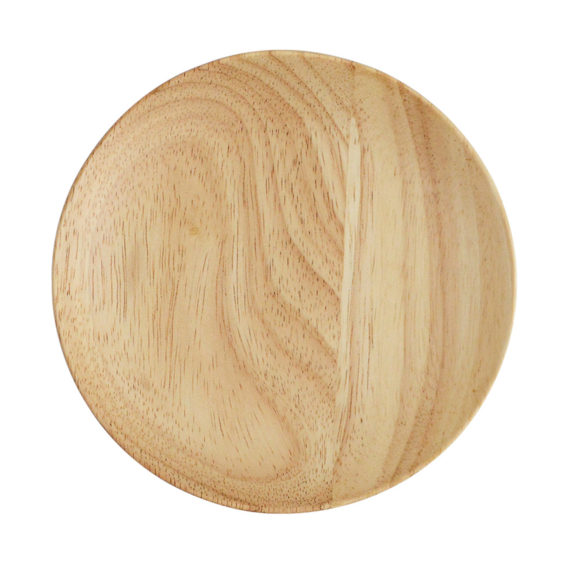 Round Wooden Plates Large Small Wood Serving Tray Tea Plate Wood Dessert Cake Dishes Salad Plate Wood Kitchen Utensils Tableware (7)