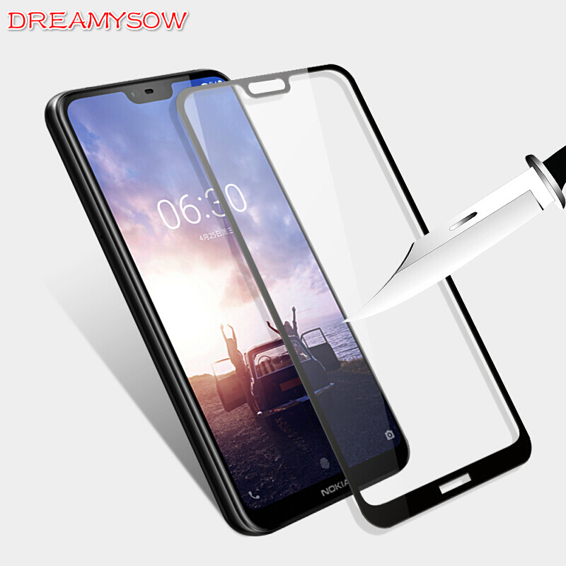 9H Ultra thin Tempered Glass For Nokia X5 5.1 Plus 3.1 2.1 3 2018 8 6 5 3 2 Full Cover Screen Protector For Nokia 6 X6 2018 Film