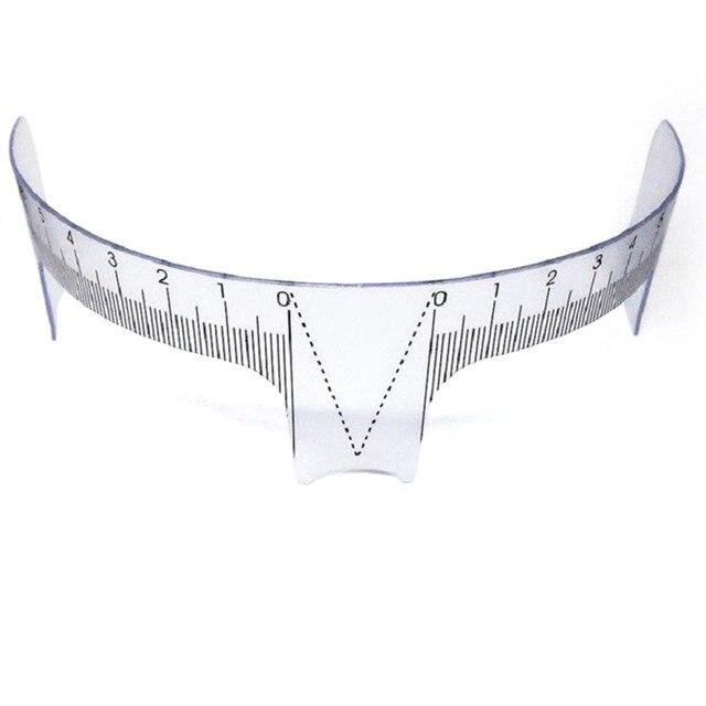 Eyebrow Grooming Stencil Shaper Ruler Measure Tool Makeup Reusable Eyebrow Ruler Tool Measures