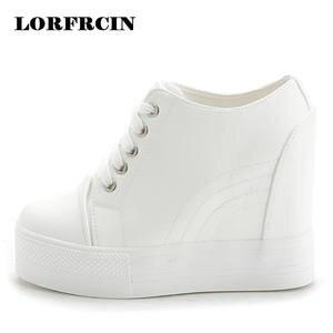 1d4bfbd5a4b4 LORFRCIN Pumps Platform White Black Leather Women Shoes