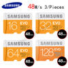 SAMSUNG Original Storage Card 128GB 64GB 32GB 16GB 48M S C10 EVO MicroSD Class10 TF Memory