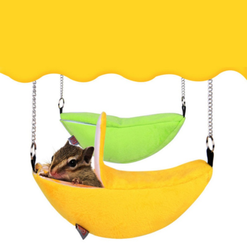 font b Pets b font Hamster Hanging House Hammock Banana Design Small Animals Cotton Cage