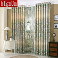 New Styles! Luxury Window Curtains For Living Room/Bedroom / Hotel Printed & Jacquard  Flowers Drapes Blackout Window Treament
