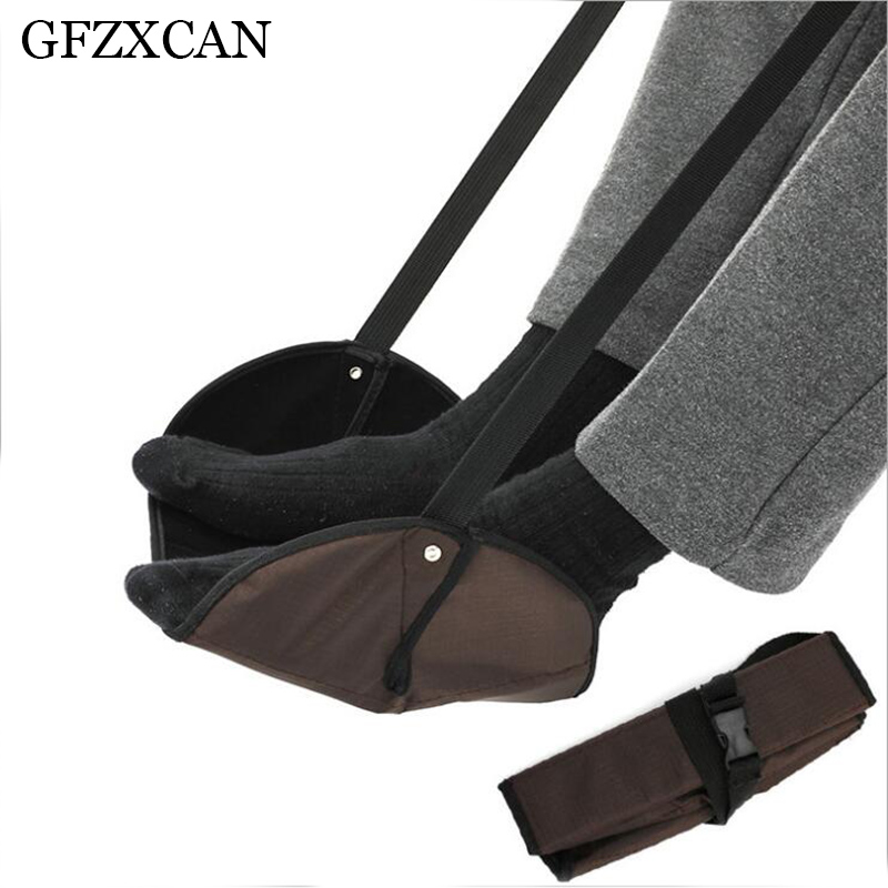 GFZXCAN brand portable travel outdoor aircraft office foot rest pad adjustable height travel accessories foot pedal