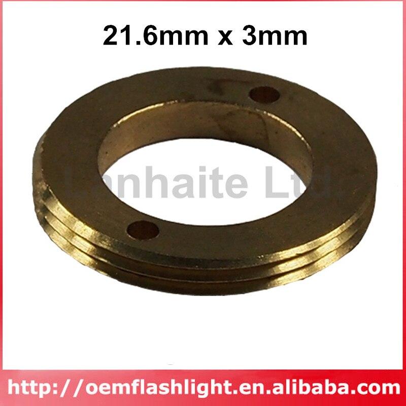 DIY Brass Driver Pill Adapter 21.6mm X 3mm For LED Flashlight
