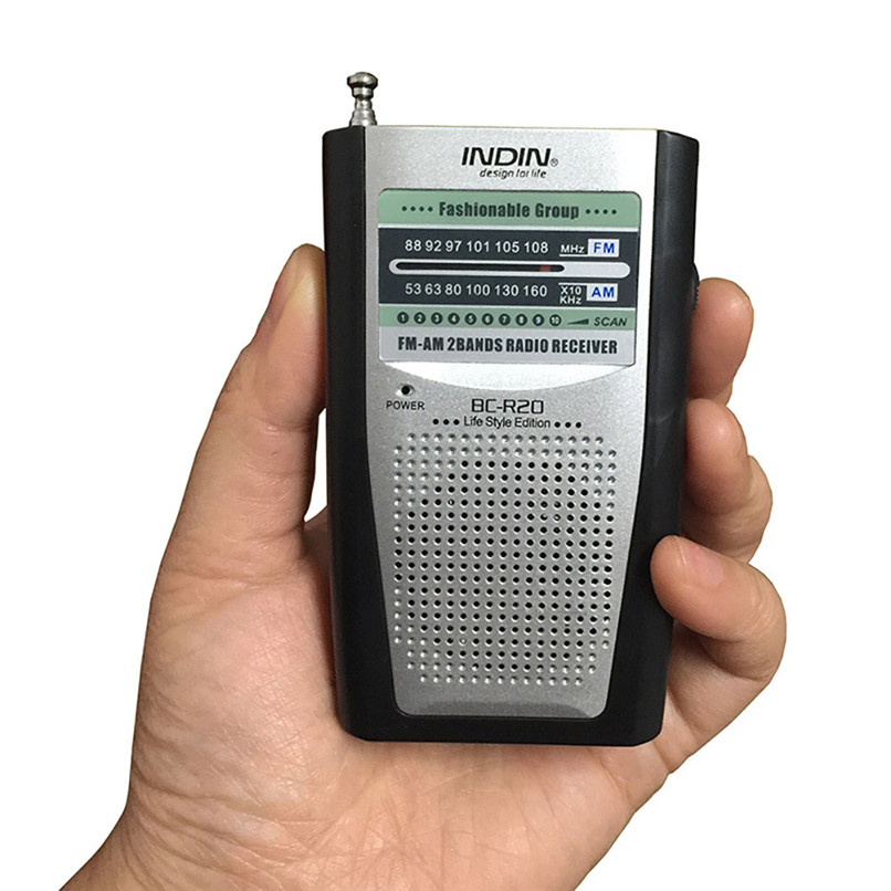 Pocket Mini Portable AM / FM Receiver Antenna Radio Built in Speaker BC-R20 Free Shipping H1T07#LLY71009101