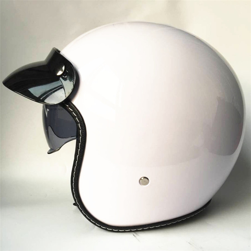 free shipping Harley Helmets Motorcycle Retro Half Cruise Prince half face open face black white Helmet DOT Approved