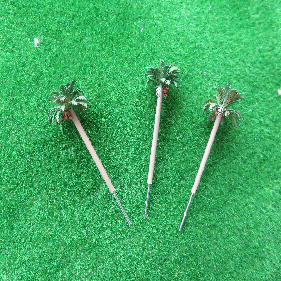 20pcs lot 1 400 35mm hot sale architecture copper model palm tree for ho train layout