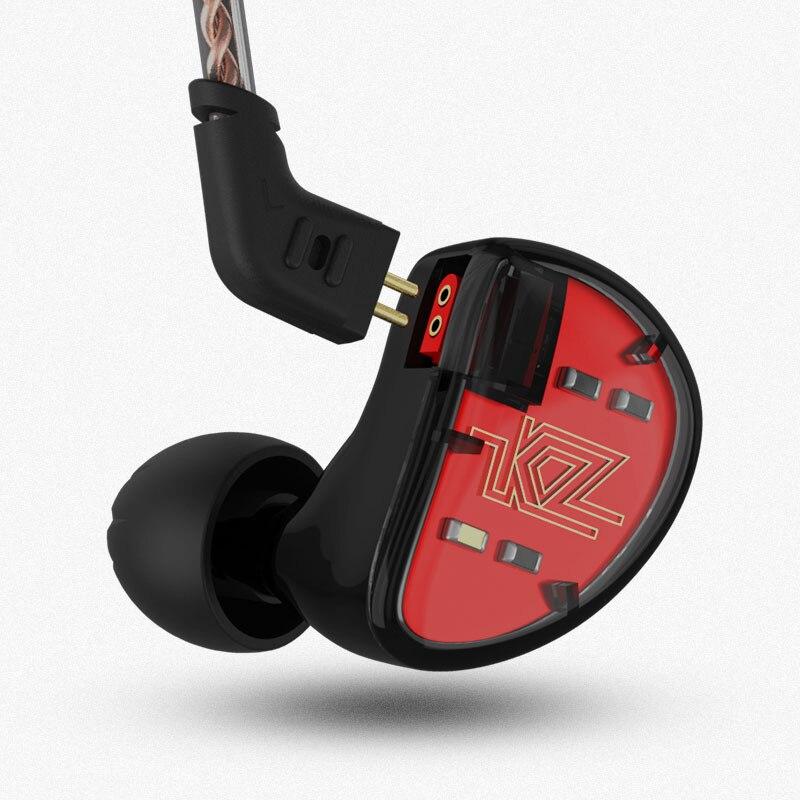 KZ AS10 балансными арматурными в ухо наушники Hi-Fi Запуск спортивные наушники Earplug гарнитура вкладыши обновлен KZ ZS10 ZS6 ZS5 Знч ES4