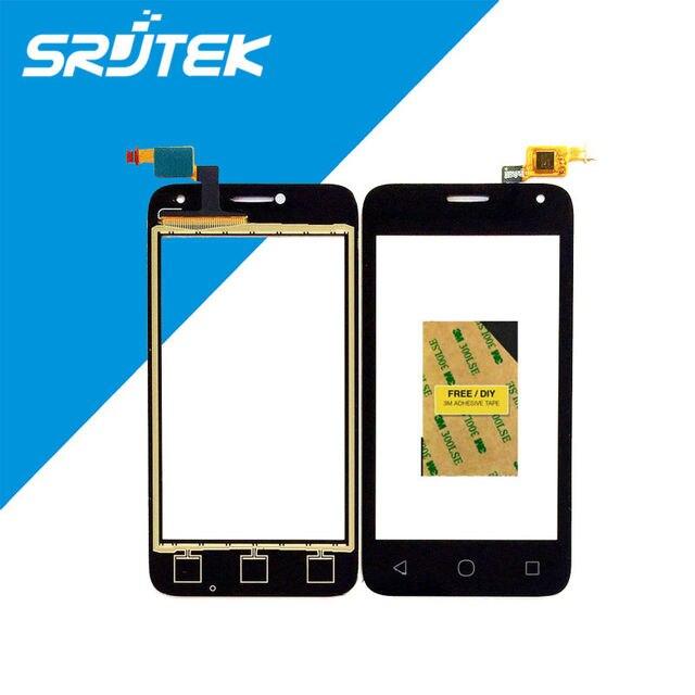 """4.0 """"para alcatel one touch 4024 ot4024 ot-4024 externa de piezas de recambio de cristal digitalizador pantalla táctil sensor de teléfono móvil"""